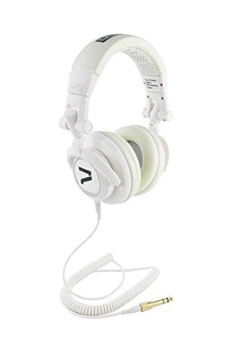7even Headphone white / Dj, Hifi, Sport Kopfhörer in weiß, dreh-klappbar, tauschbares Kabel, 110db