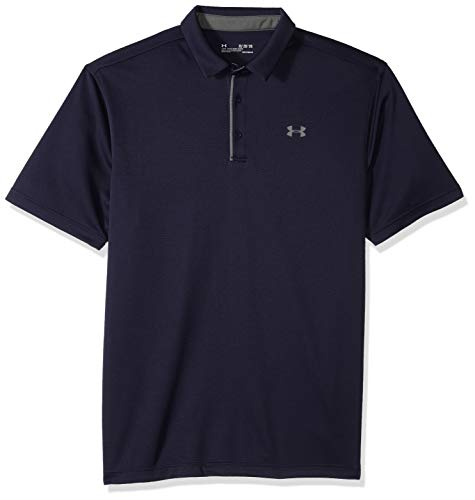 Under Armour Tech Polo, Hombre, Azul (Midnight Navy/Graphite), L