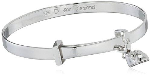 D for Diamond - 925 Sterling-Silber Silber Rundschliff weiß Diamant (Boots Kinder Sparkle)