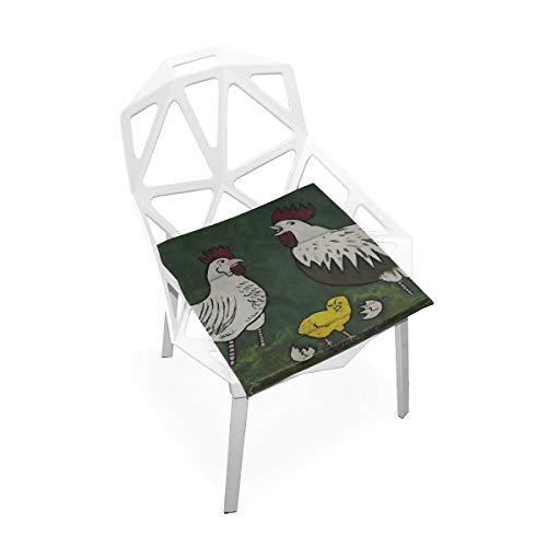 Quadrat Stuhl Kissen hahn Huhn Grafik malerei Werbung weiche rutschfeste Memory Foam Stuhl Pads Kissen Sitz für Home küche Schreibtisch 16x16 Zoll bürostuhl pad