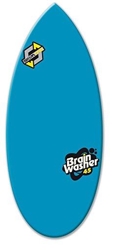 Skim One Skimboard, Epoxid, Blau (Brain Washer) / Gelb, 111,7cm