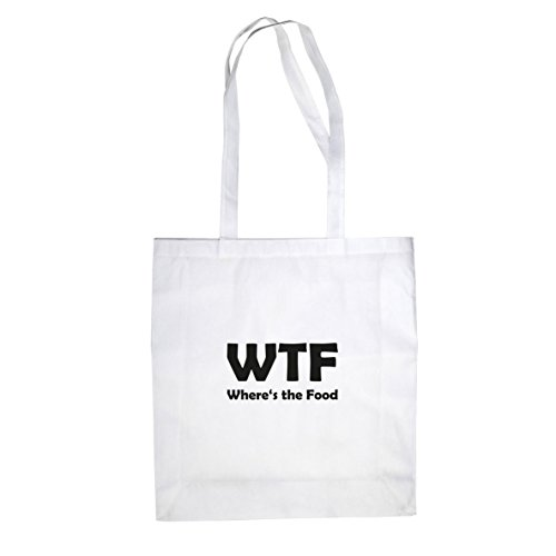 Where's the Food - Stofftasche / Beutel Weiß