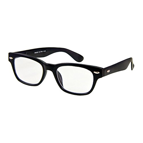 I NEED YOU Lesebrille Woody / +2.00 Dioptrien/Schwarz, 1er Pack