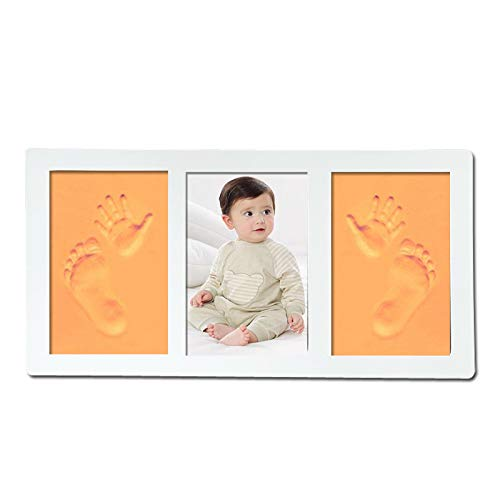 Baby Handprint And Footprint Photo Frame Kit For Newborn Boys And Girls,Diligencer Beautiful Safe And Easy To Use Unique Baby Gifts Set (Coloful)