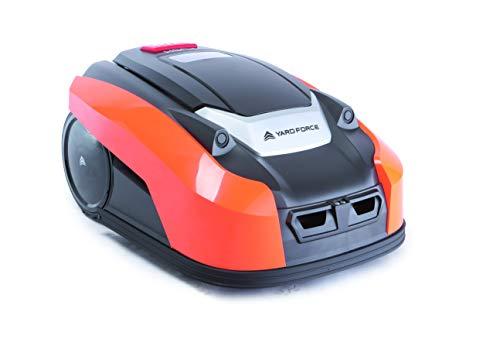 YARD FORCE X60i Mähroboter mit App-Steuerung – Selbstfahrender Rasenmäher Roboter mit Regensensor – Akku Rasenroboter für bis zu 600m² Rasen & 40% Steigung 28 V, schwarz/orange - 2