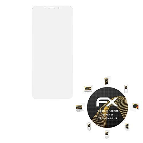 atFolix Panzerfolie kompatibel mit Allview X4 Soul Infinity N Schutzfolie, entspiegelnde & stoßdämpfende FX Folie (3X)