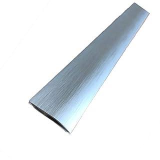 ⭐️ Carpet Cover 26mm x 0.93M Brushed Aluminium Self-Adhesive Threshold Door Floor Trim Transition Bar TMW Profiles (Brushed Silver)