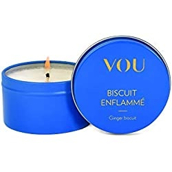 VOU by Amorelie - Bougie de massage senteur Biscuit enflammé aux notes de gingembre (86 ml) - La cire se transforme en huile pour des massages en couple sensuels