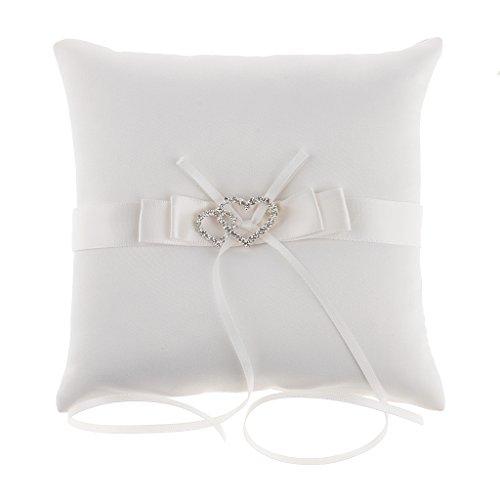 F Fityle Elegante Cuscino Nuziale Anello Con Decorazioni Floreali Per Matrimoni Sposa - 3