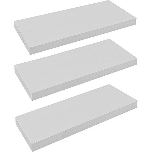 Harbour Housewares Estante flotante - 60cm - Color blanco - 3 unidades