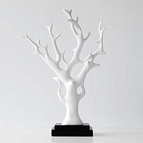Dekoartikel & Figur Skulpturen Figuren Harz glücklicher Baum glücklicher Baum Dekoration zuhause Wohnzimmer Veranda weinschrank Dekoration Geschenk weiß ()