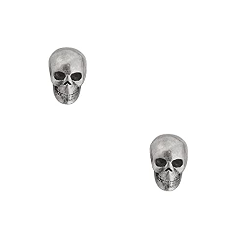 Jane Stone Ladies Earrings 925 Sterling Silver Funky Vintage Skull Tiny Studs for Women and Girls 1