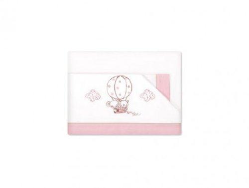 Pirulos Globo - Sábanas, 60 x 120 cm, color blanco y rosa