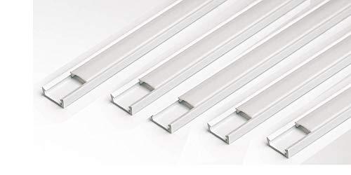 10 M (5x2M) LED Profil u Abdeckung Leiste Schiene f. LED Band Streifen Stripe -