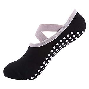 Urhomy 1 para Sport Anti Slip Yoga socken Pantoffel für Frauen Dame Verband Pilates Socke Ballett Ferse Dance Protector