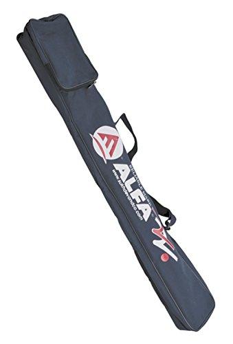 Alfa Non Tear Matty Tuch Schwarz Hockey Stick Sport Kit Tasche mit Tasche Schwarz