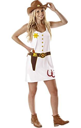 Damen Cowgirl Cowboy Wilder Westen Verkleidung Karneval Kostüm Medium