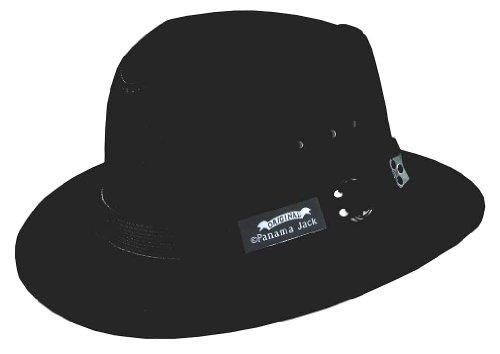 d55664d27b4d66 Original panama jack 0016698654302 Panama Jack Canvas Safari Hat Black  Large- Price in India