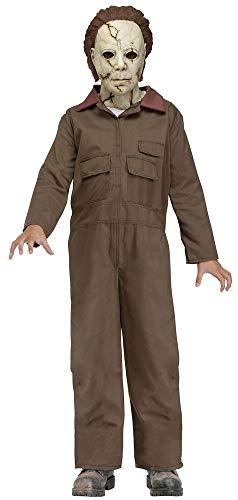 shoperama Halloween Kinder-Kostüm Michael Myers inklusive Maske mit Haaren Horror-Film Serienmörder Killer Psychopath, Größe:L - 12 bis 14 (Kostüm Kinder Filme)