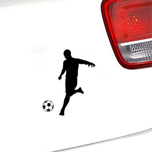 11 cm x 13,7 cm Fußball Spieler Aufkleber Auto Aufkleber Schablone Silhouette Für Auto Laptop Fenster Aufkleber