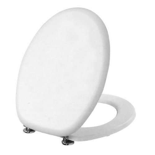 Maurer WC Sitz Toilettensitz aus Holz MDF weiß WC Standard