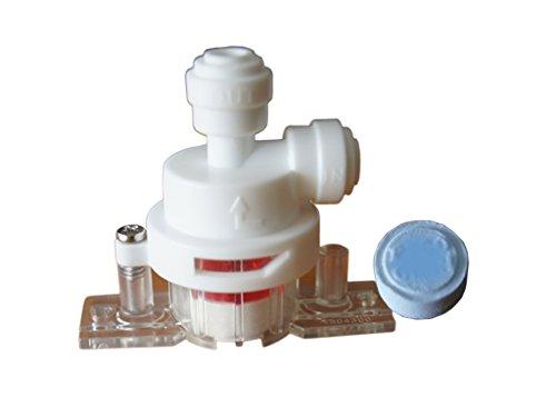"""Aquastop Sicherheitsventil für 1/4"""" (6,4mm) Schlauch, Wasserleitung. Wasserstopper und Sicherung für Kühlschrank SbS, Wasserfilter, Umkerosmose Anlage, Aquarium"""