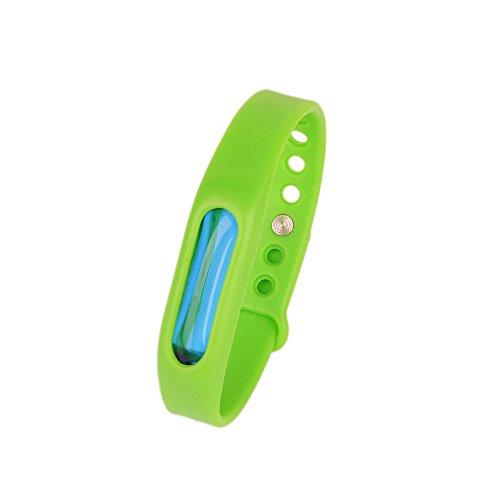 Kroo Mosquito Armband Insektenschutzmittel Armband Schutz und verstellbarer Armband Gurt für Babys Audlt und Haustiere grün