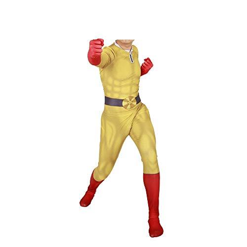 ng Film Spiel Punch Superman Cosplay Kostüm Lycra Siamese Strumpfhosen Anime Kostüm 3D Digitaldruck Enge Weihnachten Halloween Kostüm Für Erwachsene Tragen M ()