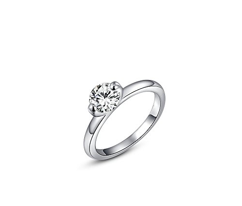 Silver Shoppee 'Dazzling You' High Quality Genuine Austrian Crystal Sterling Silver Ring For Girls and Women