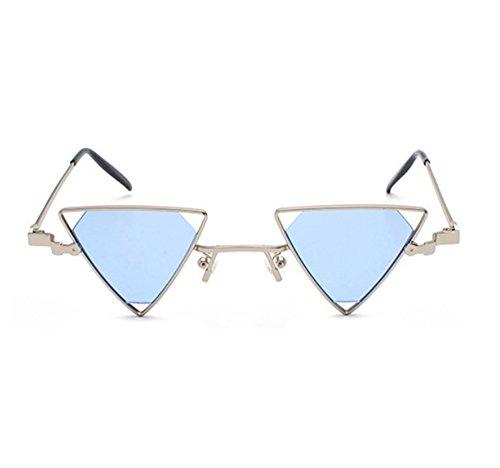 Gafas de sol triangulares retro sin polarización vintage Gafas de sol clásica para hombre y mujer