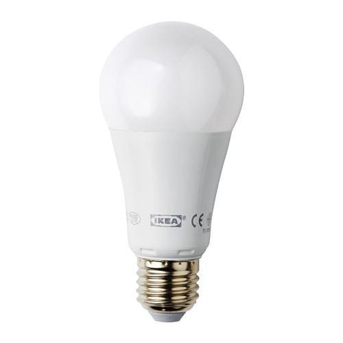 Ledare–Bombilla LED E271000lúmenes, regulable, globo globo Ópalo blanco