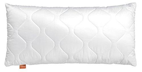 sleepling 194121 Basic 100 Kopfkissen Mikrofaser 50 x 70 cm, weiß