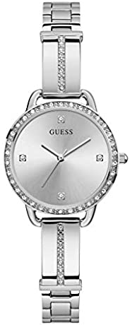 GUESS Womens Quartz Watch, Analog Display and Stainless Steel Strap GW0022L1