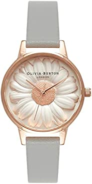 Olivia Burton Womens Quartz Watch, Analog Display and Leather Strap OB15EG50