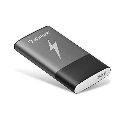 TCSUNBOW Tragbares Solid State Drive 250 GB 256 GB SSD mit Typ C und USB 3.0 Schnittstelle High Speed USB Flash Drive (250 GB) 250 GB (250-usb-flash-laufwerk)
