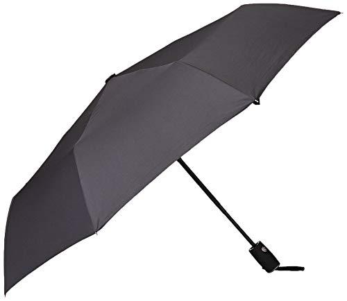 Arcadia extérieur Premium Noir Voyage Parapluie avec revêtement Glide Tech