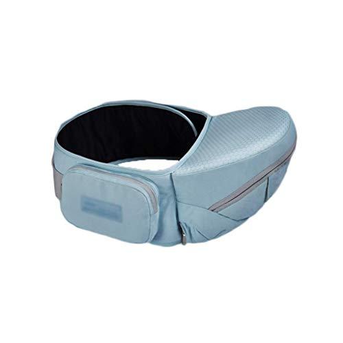Lcxligang Babytrage, Hockergurt an der Taille, Four Seasons Light, Ergonomisch, Passt in alle Positionen des Gurtes, Neugeborenen-Sitz (Color : Blue) - Blau Lammfell Brieftasche