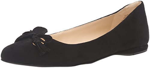 Nine West Simily Daim Chaussure Plate Black