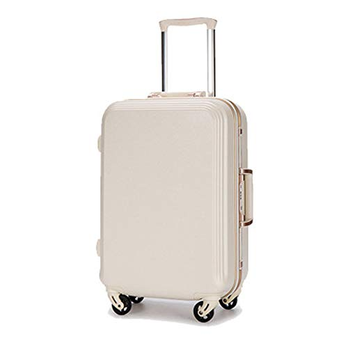 FRYP Ms. Boarding Gepäck 24 Zoll Universal Wheel PC Aluminium Rahmen Trolley Case weiß1 Large