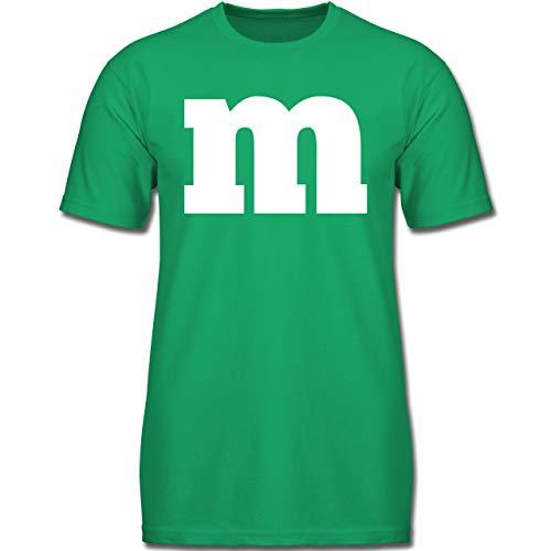 Gruppe 3 Von Kostüm Eine - Karneval & Fasching Kinder - Gruppen-Kostüm m Aufdruck - 104 (3-4 Jahre) - Grün - F130K - Jungen Kinder T-Shirt