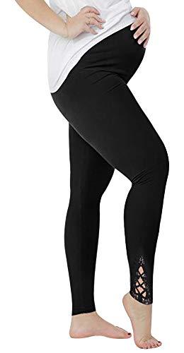 Sfit Damen Schwangere Lange Umstandsleggings Schwangerschaft Leggins Hohe Taille Strumpfhosen Volle Unterstützung - Taille Unterstützung Strumpfhosen