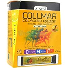 Collmar, colágeno marino hidrolizado con magnesio y ácido hialurónico + cúrcuma para cartilagos, ...