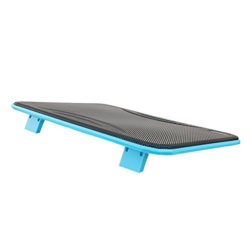 perfk Laptop Gamer Kühler Cooling Pad Notebook Cooler Ständer Kühlpad Kühlmatte 10Zoll -17 Zoll - blau