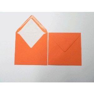 Blanke Briefumschläge 164x164mm 100g/qm gummiert VE=100 Stück orange
