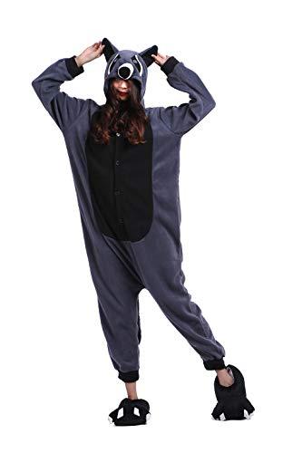 Tiere Onesie Karneval Kostüm Damen Jumpsuit Pyjama Schlafanzug Weihnachten Halloween Overall Nachtwäsche Faschingskostüme Herren Raccoon