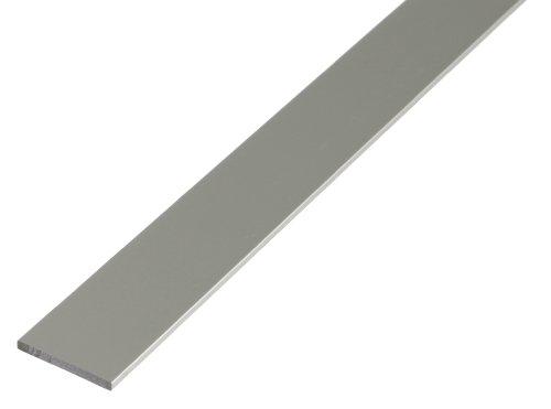Aluminium-platte (GAH-Alberts 473044 Flachstange - Aluminium, silberfarbig eloxiert, 1000 x 30 x 2 mm)