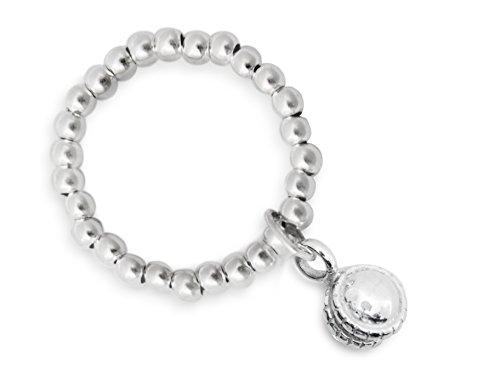 Beau Soleil Jewelry 925 Sterling Silber Ring mit Glöckchen Anhänger Kugelring Ring 925 Sterling Silber (54 (17.2))