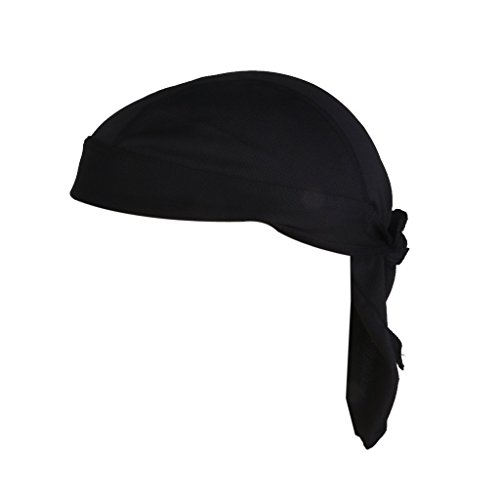 44jiu44Outdoor Radfahren Polyester UV Head Wrap Cap Bandana Hat mit Kopfbedeckungen, schwarz -