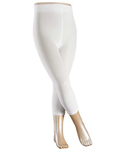 Preisvergleich Produktbild FALKE Mädchen Legging Cotton Touch, Einfarbig, Gr. 152 (Herstellergröße: 152-164), Weiß (white 2000)