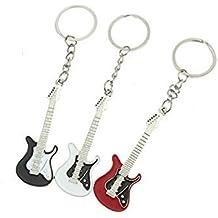 MRS Llaveros Guitarra Eléctrica ((Pack de 3 Unidades))